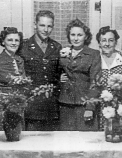 Marriage of Don and Laura Jeanne (with their mothers October 13, 1943, San Angelo, Texas)